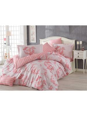 Кпб 1,5 сп. (Евро) поплин VANESSA, розовый HOBBY HOME COLLECTION. Цвет: розовый