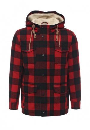 Куртка утепленная Piazza Italia. Цвет: красный