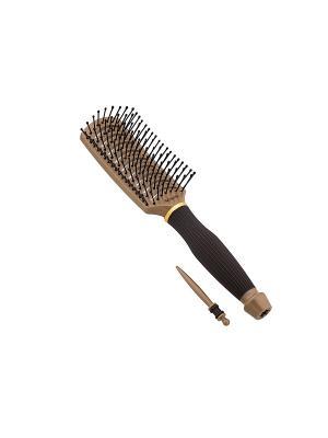 Щетка Salon Professional 98170HVI Nano Style, изогнутая, продувная, 9 рядов.. Цвет: коричневый