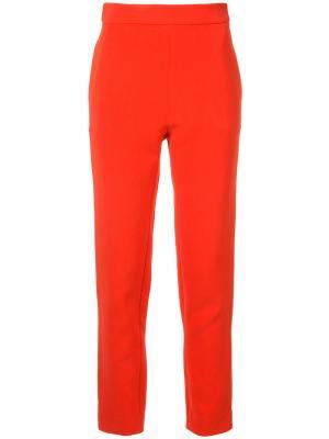 Классические брюки с завышенной талией Macgraw. Цвет: красный