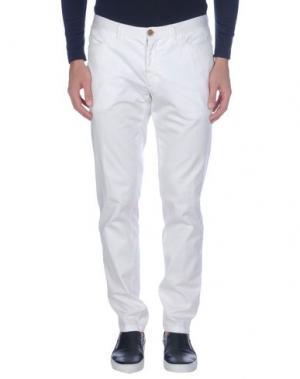 Повседневные брюки DOMENICO TAGLIENTE. Цвет: белый