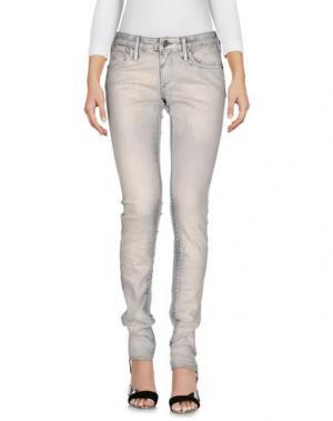 Джинсовые брюки TRUE RELIGION. Цвет: светло-серый