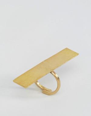 Made Кольцо с печаткой. Цвет: золотой