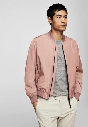 Куртка Mango Man. Цвет: розовый