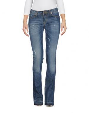 Джинсовые брюки H2O ITALIA. Цвет: синий