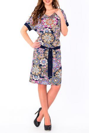 Платье S&A style. Цвет: сине-розовый