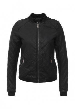 Куртка кожаная By Swan. Цвет: черный