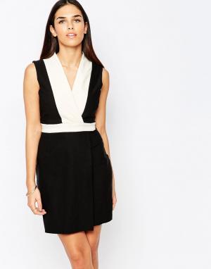 Vesper Монохромное платье с запахом спереди Maria. Цвет: кремовый