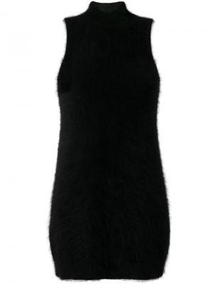 Приталенное платье Giamba. Цвет: чёрный