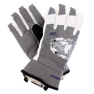 Перчатки сноубордические женские  Ws Feva Glove Gtx Grey Pow. Цвет: белый,серый