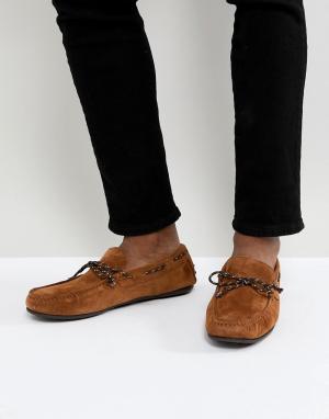 Selected Homme Замшевые мокасины. Цвет: коричневый