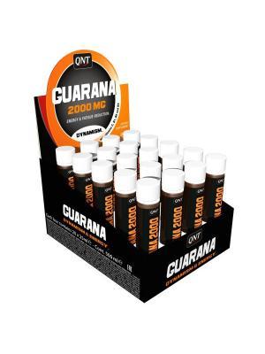 Предтренировочный комплекс QNT Guarana 2000 мг 20 амп * 25 мл. Цвет: черный,оранжевый