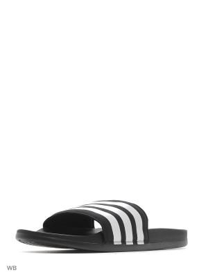 Шлепанцы adilette CF+  CBLACK/FTWWHT/CBLACK Adidas. Цвет: черный, белый