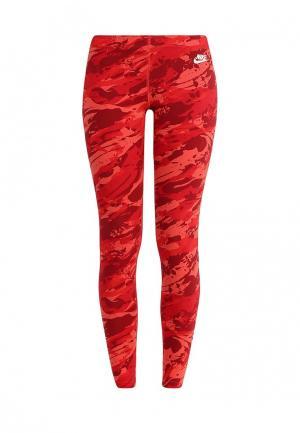 Тайтсы Nike. Цвет: красный