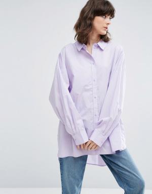 Weekday Oversize-рубашка. Цвет: фиолетовый