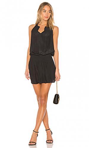 Жатое платье hilton RAMY BROOK. Цвет: черный