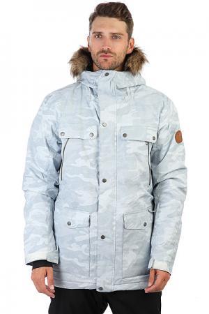 Куртка утепленная  Selector White Camokazi Quiksilver. Цвет: белый,серый
