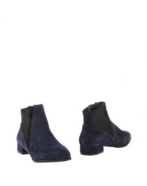 Полусапоги и высокие ботинки PRETTY NANÃ. Цвет: темно-синий