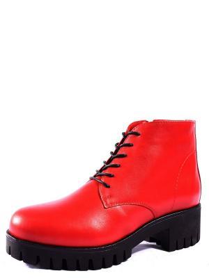 Ботинки BERG. Цвет: красный