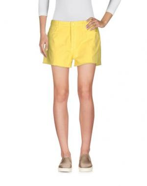 Джинсовые шорты M.GRIFONI DENIM. Цвет: желтый