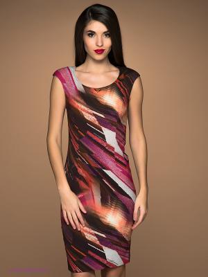 Платье Class Cavalli. Цвет: фуксия, черный, коричневый