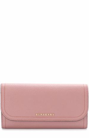 Бумажник с клапаном из зернистой кожи Burberry. Цвет: розовый