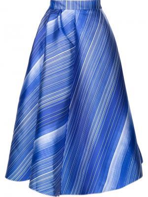 Полосатая юбка А-силуэта Vika Gazinskaya. Цвет: синий