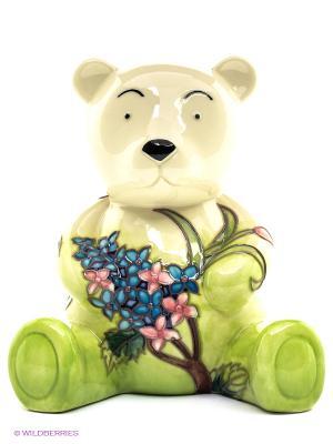 Копилка Мишка Pavone. Цвет: зеленый, молочный