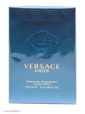 Дезодорант спрей  Versace Eros. Цвет: прозрачный