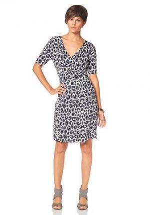 Платье BRUNO BANANI. Цвет: с рисунком/молочно-белый/серый/черный