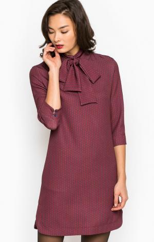 Платье POIS. Цвет: бордовый