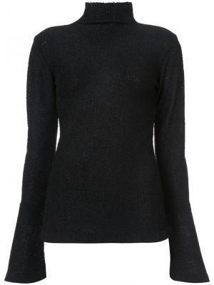 Блузка с высокой горловиной Rachel Comey. Цвет: чёрный