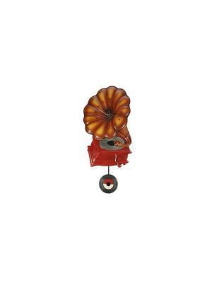Часы настенные с маятником Граммофон Русские подарки. Цвет: коричневый