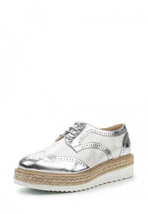Ботинки Tony-p. Цвет: серебряный