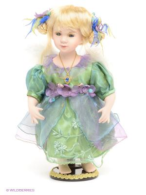 Кукла фарфоровая Фея Lisa Jane. Цвет: зеленый, фиолетовый