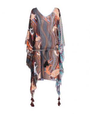 Платье до колена 100X200 CENTOXDUECENTO. Цвет: черный