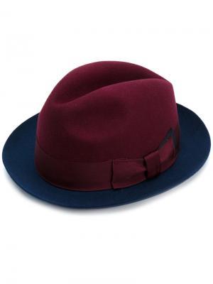 Шляпа с контрастными полями Paul Smith. Цвет: красный