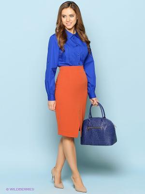 Блузка Stets. Цвет: синий