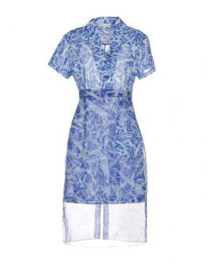 Платье до колена JONATHAN SAUNDERS. Цвет: небесно-голубой