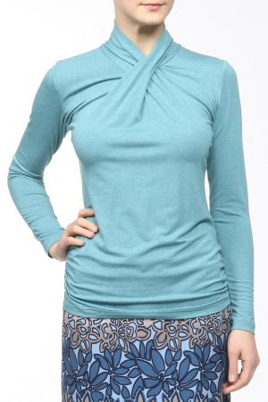Блузка M&L Collection. Цвет: зеленый