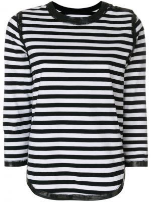 Полосатая футболка Woody Bis Zadig & Voltaire. Цвет: чёрный