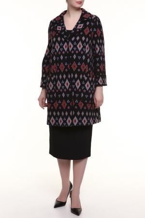 Пальто Maria Grazia Severi. Цвет: черный, звезды
