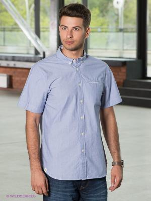 Рубашка VOI JEANS. Цвет: синий, белый
