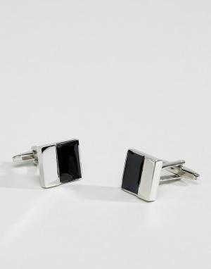 Burton Menswear Квадратные запонки. Цвет: серебряный