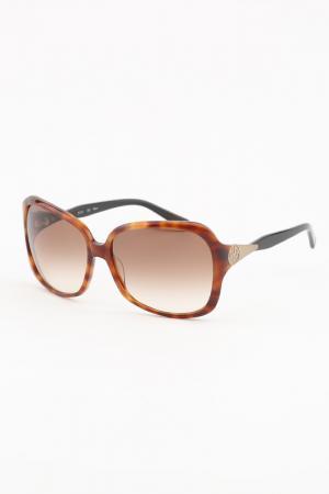Очки солнцезащитные ELLE. Цвет: светло-коричневый