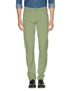 Повседневные брюки NICWAVE. Цвет: светло-зеленый