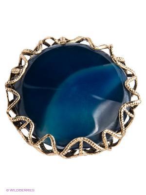 Кольцо Claudio Canzian. Цвет: голубой, золотистый