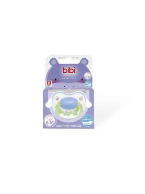 Пустышка Premium Dental силикон 6-16 мес. Happiness PlayWithUs Bibi.. Цвет: голубой