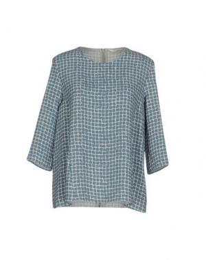 Блузка GUGLIELMINOTTI. Цвет: грифельно-синий