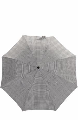 Складной зонт с черепом на ручке Alexander McQueen. Цвет: черно-белый
